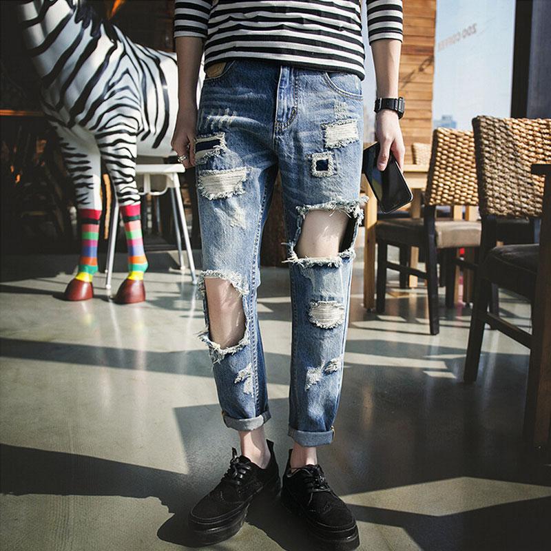 Aliexpress.com : Buy 2016 Fashion Ripped Jeans Men Denim ...