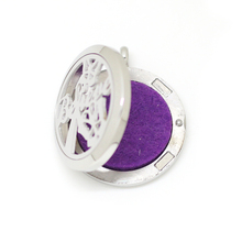 Chain as gift! Wholesale magnetic 25mm 30mm aromatherapy locket 316L stainless steel essential oil diffuser locket necklace