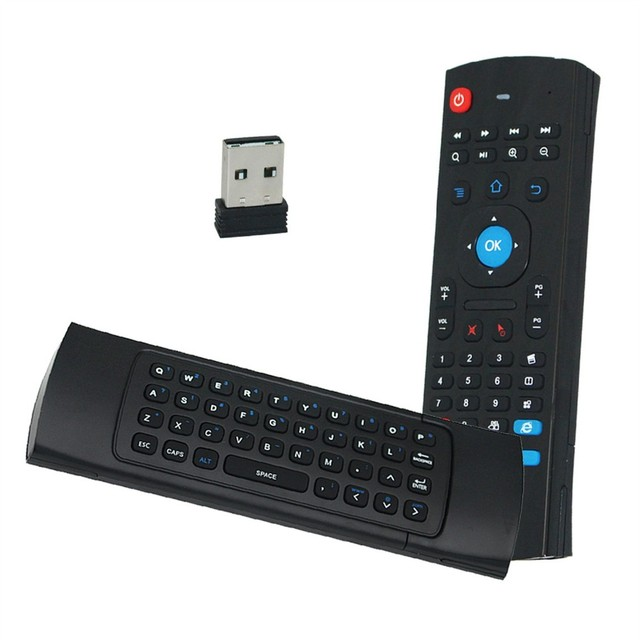 2.4GHz IR Wireless Remote Control Air Mouse Wireless Flying Double Keyboard for XBMC Android Mini PC TV Box Smart TV