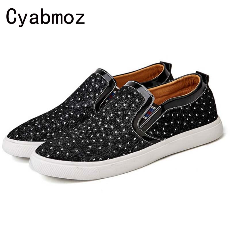 2017 New Arrival Casual Mens Shoes Comfortable Suede Leather Men Loafers Moccasins Fashion Low Slip On Men Polka Dot Flats Shoes