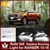High Power 1Set Car LED Daytime Running Lights DRL For Ford Ranger 2015 2016 Auto Only