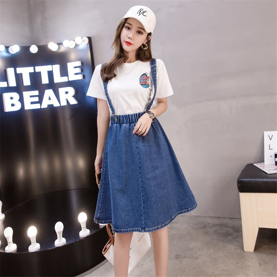 save up to 80% nice shoes 2019 authentic US $13.58 30% OFF Meileiya Jeans student Women's Tank Dress Jumper jean  dress Overall Dress Girl 2019 Spring summerS 5XL-in Dresses from Women's ...