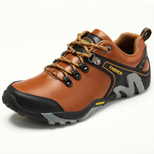Ifrich новые классные осень-зима Пеший Туризм Кроссовки для Для мужчин Кружева до Mountain обувь кожа Резиновые восхождение Ботинки