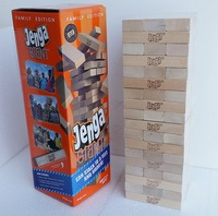 54pcs Biggest Largest Wooden Jenga Giant Game Stack Blocks Building Blocks Hardwood Game Stacks to 5+ feet. Ages 6+ Adults