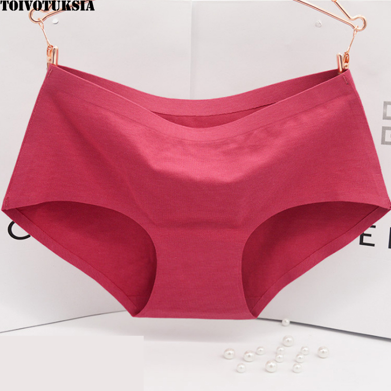 TOIVOTUKSIA Seamless Panties Cotton Summer Brief Women Elastic Heathy Underwear Girls Natural Color Lady Underwear Cotton in women 39 s panties from Underwear amp Sleepwears