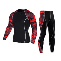 근육 남성 3D 인쇄 압축 셔츠 티셔츠 긴 소매 열 아래 최고 MMA Rashguard 피트니스 기본 레이어 무게 리프