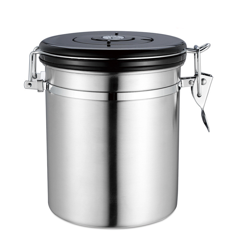 Airtight sealed lid exhaust valves tea coffee beans storage rice grain cereal jar dried fruit cans container snacks box tools in Bottles Jars Boxes from Home Garden
