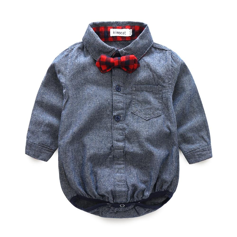 2016 jesień baby boy girl clothes Bluzy z długim rękawem koszule + - Odzież dla niemowląt - Zdjęcie 2