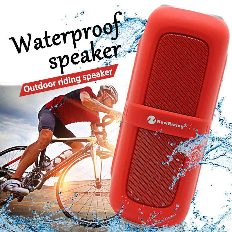 NewRixing Outdoor Sport Portable Waterproof Bluetooth Speaker Bass Sound System 10W Stereo Music Surround Speakers