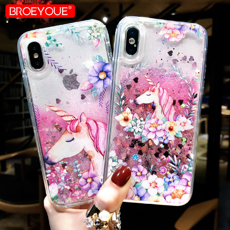 Cellphones & Telecommunications Half-wrapped Case Hot Sale Glitter Stars Quicksand Liquid Phone Case For Iphone 5 5s Se 6 6s Plus 7 8 Plus X Xs Max Xr Love Heart Tpu Back Cover Cheap Sales