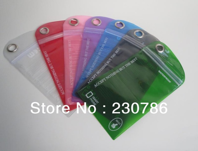 7 Colors Universal Waterproof Pouch Bag Protector Case Cover for Smart phone Mobile Phone