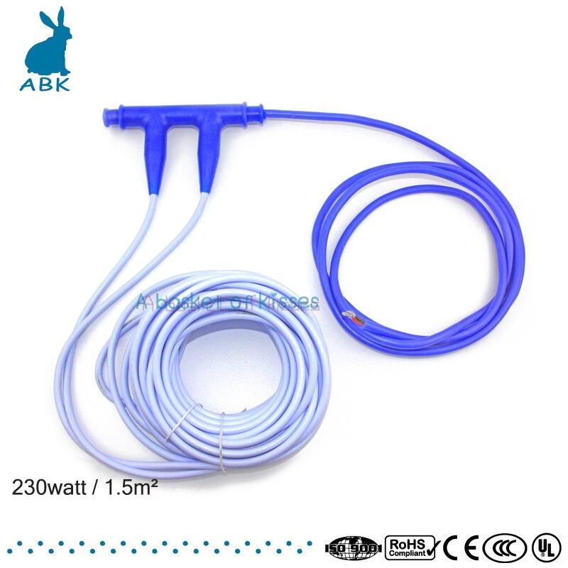 jaký kabel ležel v zemi pro dům - Professional infrared heating cable 24K 17 ohm heating cable Ground heating system