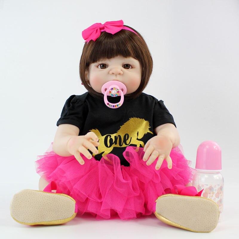 NPKCOLLECTION 22 полный силиконовые возрождается для маленьких девочек куклы Водонепроницаемый тела 22 реалистичные новорожденных принцесса Мла...