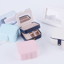 Womens Mini stud earrings rings Jewelry Box Useful Makeup Organizer With Zipper Travel Portable