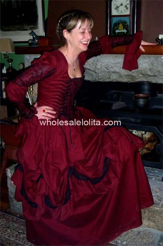 В готическом стиле, стиле ренессанс пират платье викторианская эпоха платье тема костюм платье