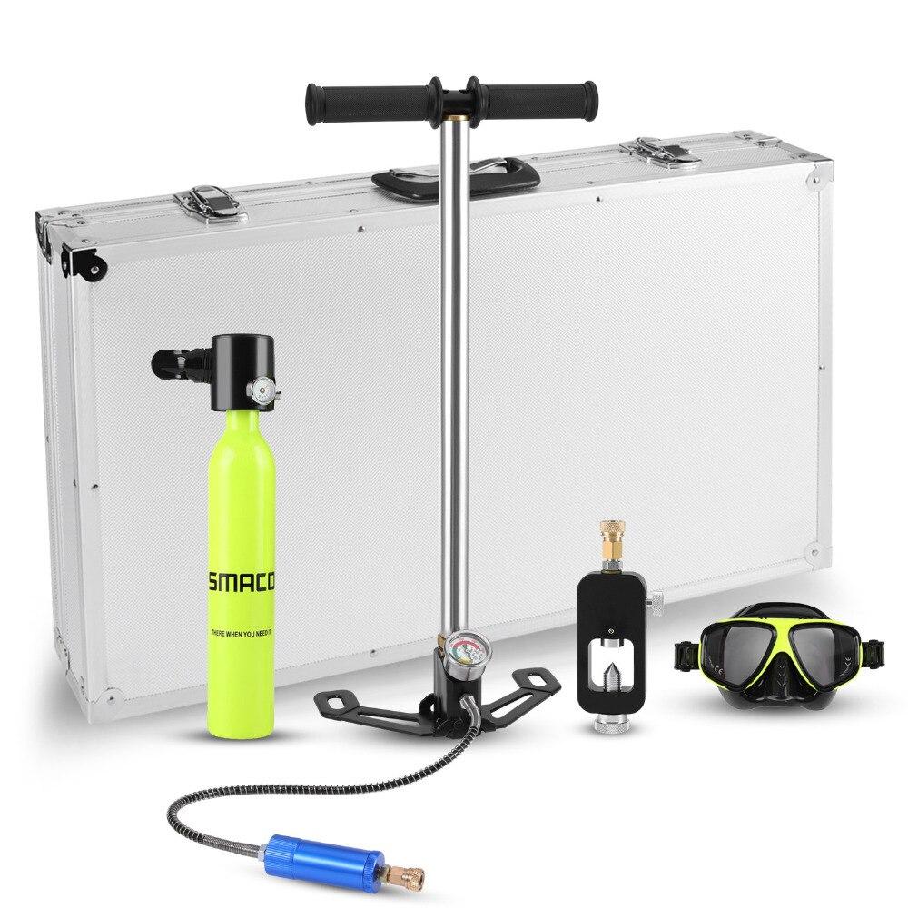 Mini equipo de buceo libre tanque de aire total libertad respiración bajo el agua durante 5 a 10 minutos