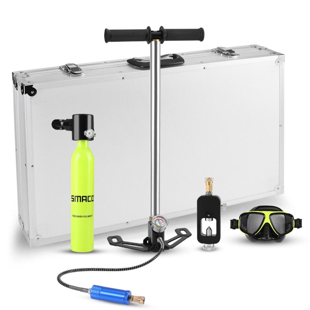Mini scuba diving attrezzature di ricambio serbatoio d'aria totale libertà di respiro sott'acqua per 5 a 10 minuti