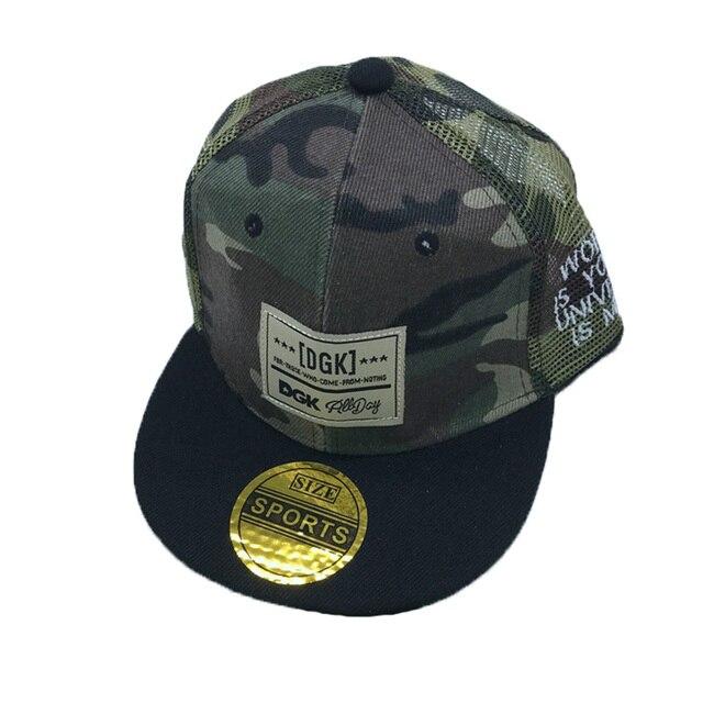 c7c061de1dda29 brand gorras baseball cap camouflage Mesh cap DGK pattern hip hop flat  tongue cap boy girl snapback crianca sun Hat fitted hats