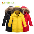Actionclub Girls Winter Jackets Children Warm Duck Down Coat Kids Hooded Outerwear Baby Girls Clothing Winter Thicken Parkas