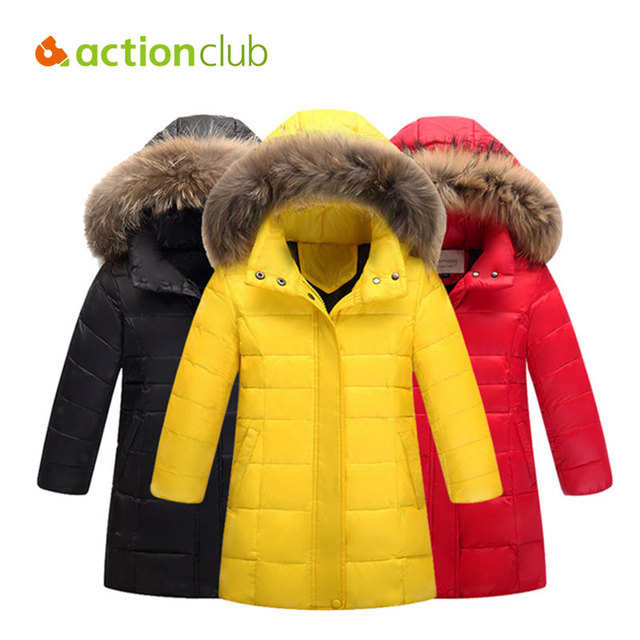 594972128 Actionclub Girls Winter Jackets Children Warm Duck Down Coat Kids ...