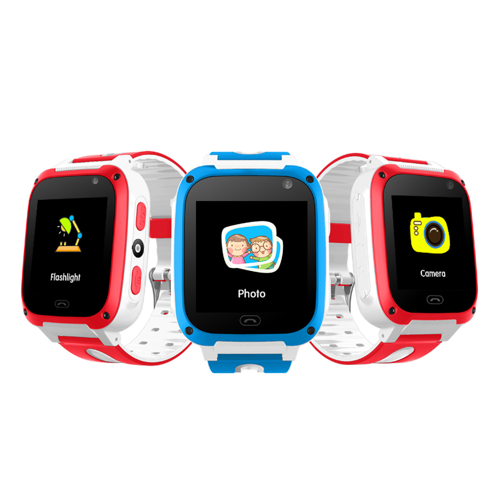 GPS Tracker Locator Watch Phone Call-Camera Gps-Fence Touch-Screen Smart Children Anti-Lost