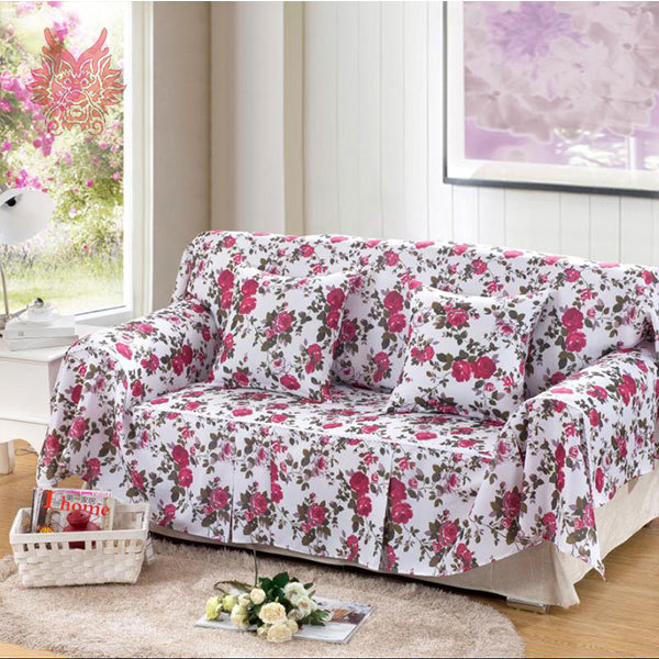 Multi Color Sofa Slipcovers Material Chesterfield Bed Home Textile Floral Print Canvas Cover ...