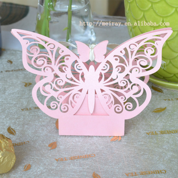 baby shower favors gift laser cut candy box for baptism souvenirs return