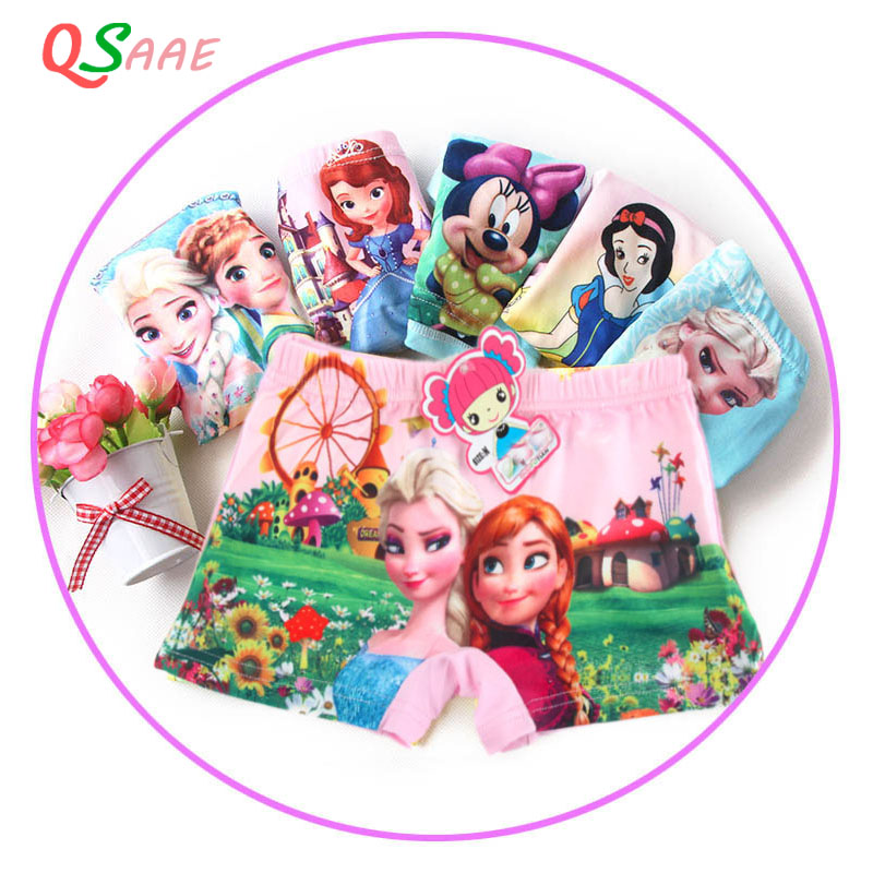 2-9T 5pcs/lot new fashion children   panties   girls' cartoon briefs female child underwear boys cartoon   panties   children clothing