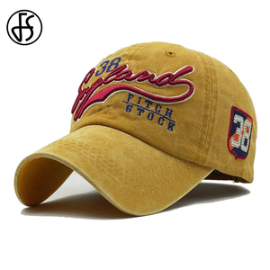 FS Summer Face Cap For Men Women Golf Baseball Hats Snapback Cotton Yellow Blue Bone Embroidered Dad Caps Gorro Hombre(China)