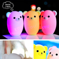 2019 New Lemon Bear Intelligent Led Light Cartoon Children Nursery Lamp led Night Light USB Smart Music Night Light