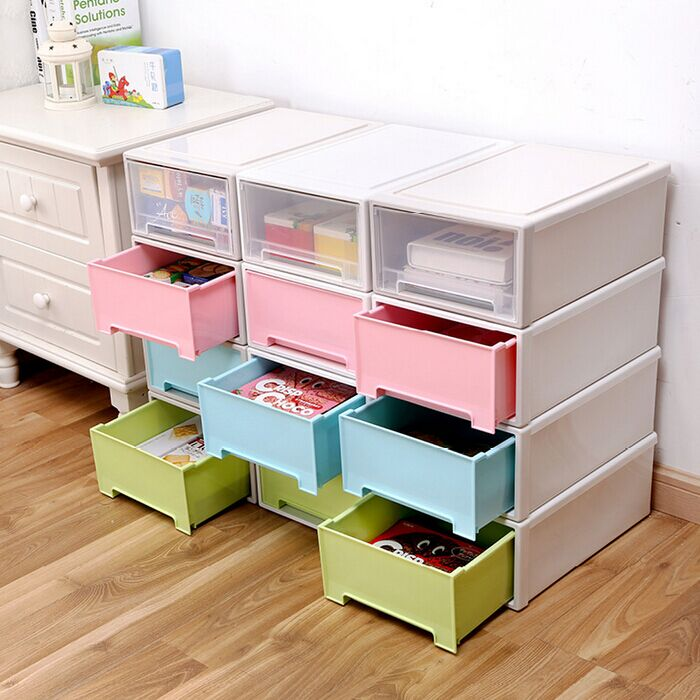 Plastic Storage Bins Drawers Transparent Plastic Shoe Box Single