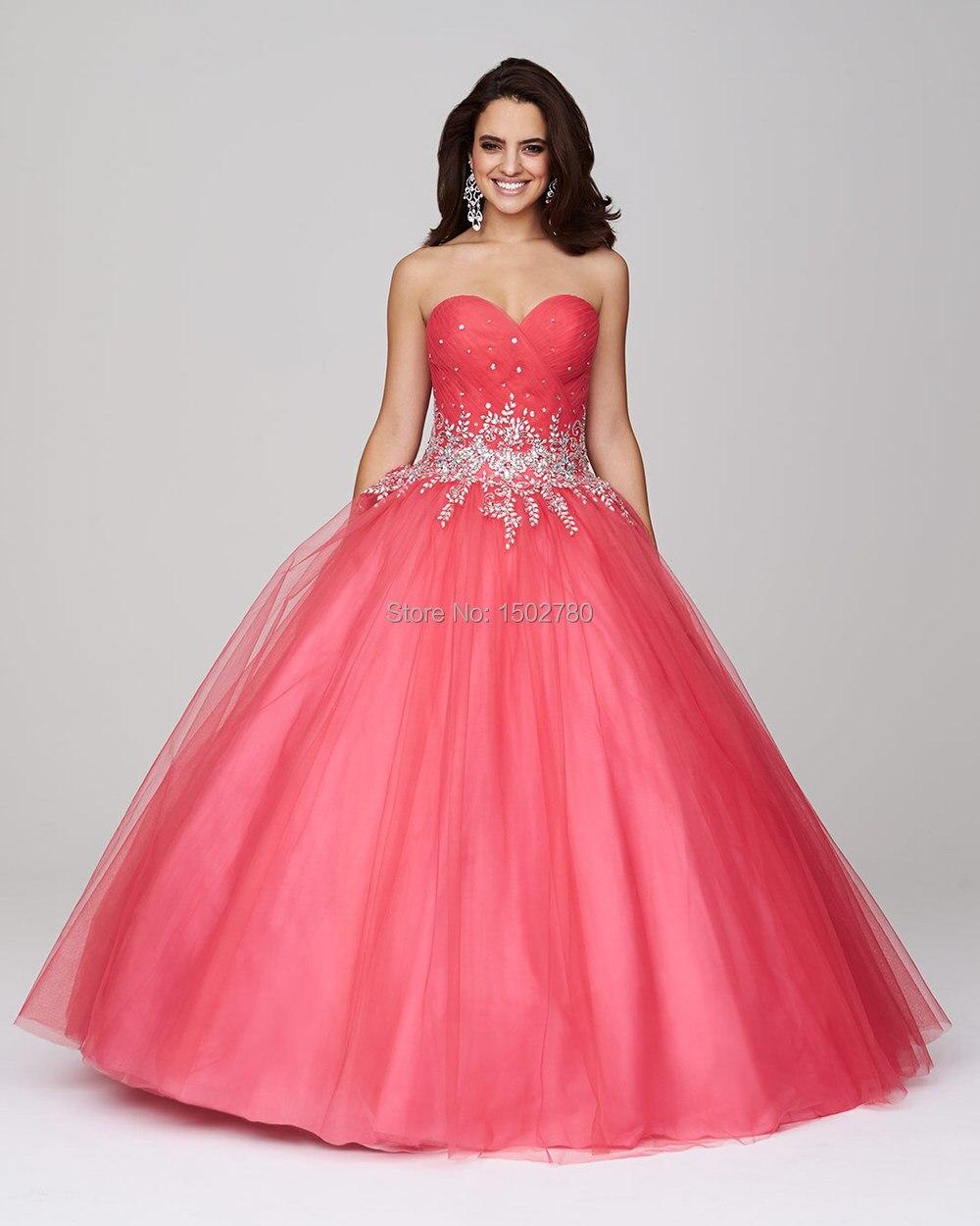 Descuento Quinceanera vestidos apliques de bola del amor elegante ...