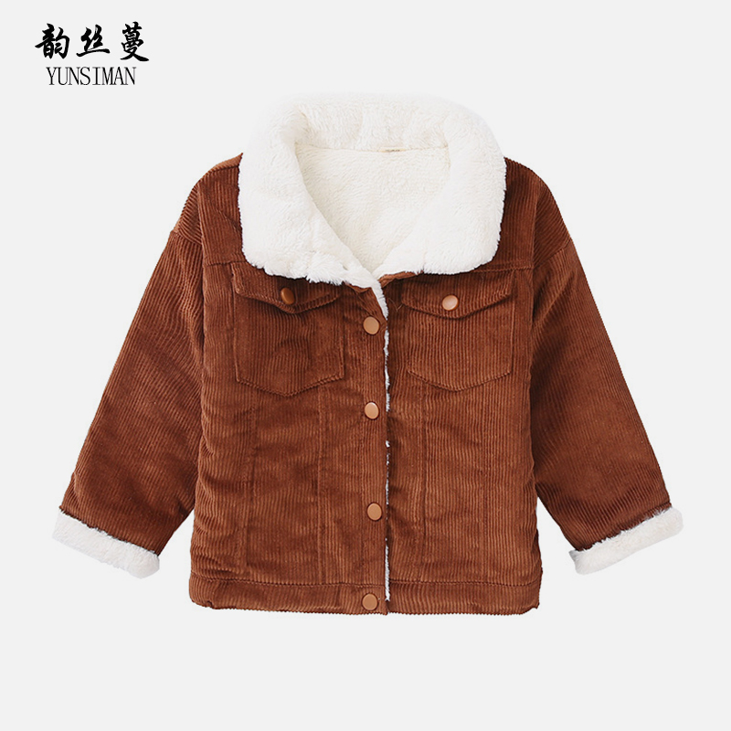 2018 Kids Girls Winter Clothes 4 6 8 10 to 12 Years Autumn Wool Coat Long Sleeve Thickening Jacket Tops Kids Winter Wear 5A25A 4 to 12 years kids