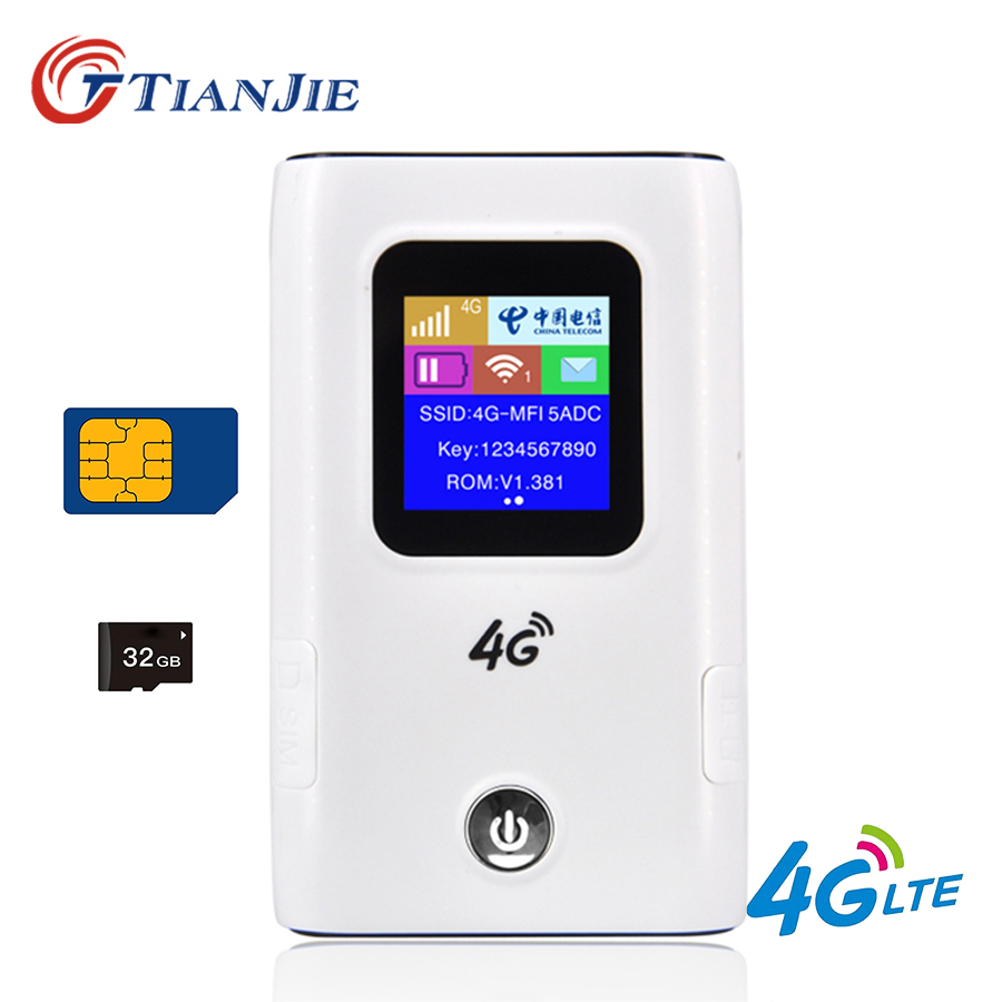 Portable 4G Wifi Router 3G 4G Lte Wifi Wireless Router 5200mAh Battery Power Bank Hotspot Unlocked Car Mobile With Sim Card Slot