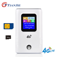 Portable 4G wifi router 3G 4G Lte wifi Wireless router 6000mAh battery power bank Hotspot Unlocked Car Mobile With Sim Card Slot cheap TIANJIE CN(Origin) 100Mbps 1 x10 100Mbps 1 x USB 2 0 2 4G None 150Mbps MF905-12 Wi-Fi 802 11g 802 11n 150 Mbps Firewall