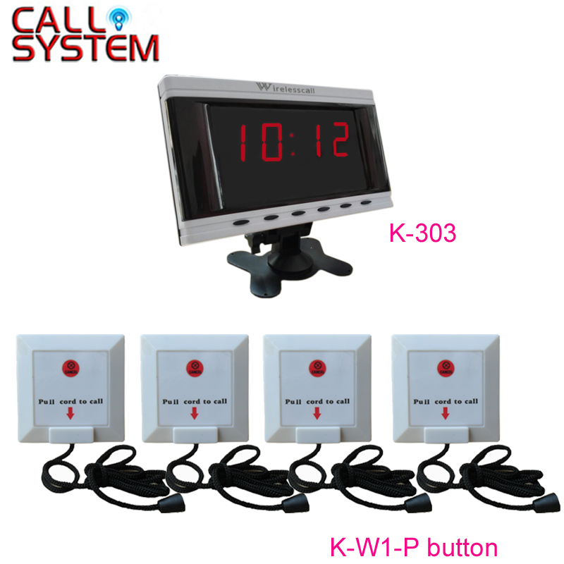 1 Display 4 Ziehen Schnur Taste Patienten Drahtlose Nurse Call System Professionelles Design