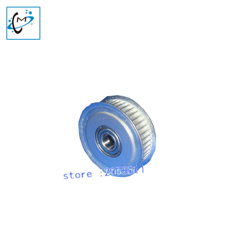 Wide format printer Allwin Konica driven pulley / Allwin KM512 K8 C8 motor gear belt driving pulley 1pc for sale 14pins data cable 6 meters wide format printer cable for allwin human inkjet printer konica km512 42pl spare parts