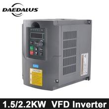 CNC 2.2KW/1.5KW VFD переменная преобразователя частоты водитель 110 В/220 В преобразователь частоты AC/DC шпинделя инвертор для гравера машины