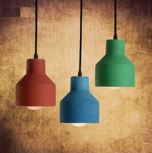 цены Edison Loft Style Creative Cement Droplight Vintage Pendant Light Fixtures For Dining Room Bar Hanging Lamp Indoor Lighting