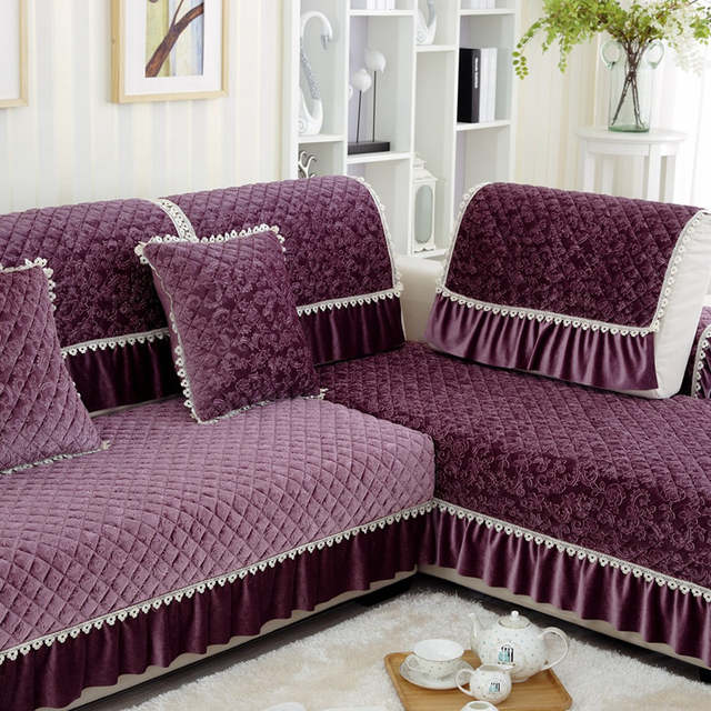 Surprising Us 12 13 48 Off 1Pc Lace Decorative Purple Sofa Towel Sectional Sofa Covers Modern Camel Seat Slipcover Cushion Couch Cover Home Decor Many Size In Ibusinesslaw Wood Chair Design Ideas Ibusinesslaworg