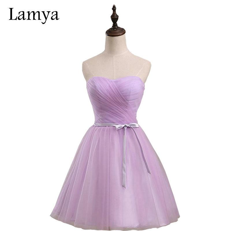 Lamya Cheap Plus Size Simple Real Photo Short Mini Chiffion   Bridesmaid     Dresses   2018 Prom Formal   Dress   Vestidos De Novia