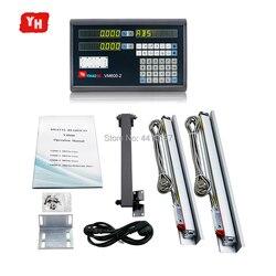 Tokarko-frezarka narzędzia 2 osi cyfrowy odczyt wyświetlacz z 5U enkodery liniowe skala pomiaru 150 250 350 450 550 650 750 850 950mm