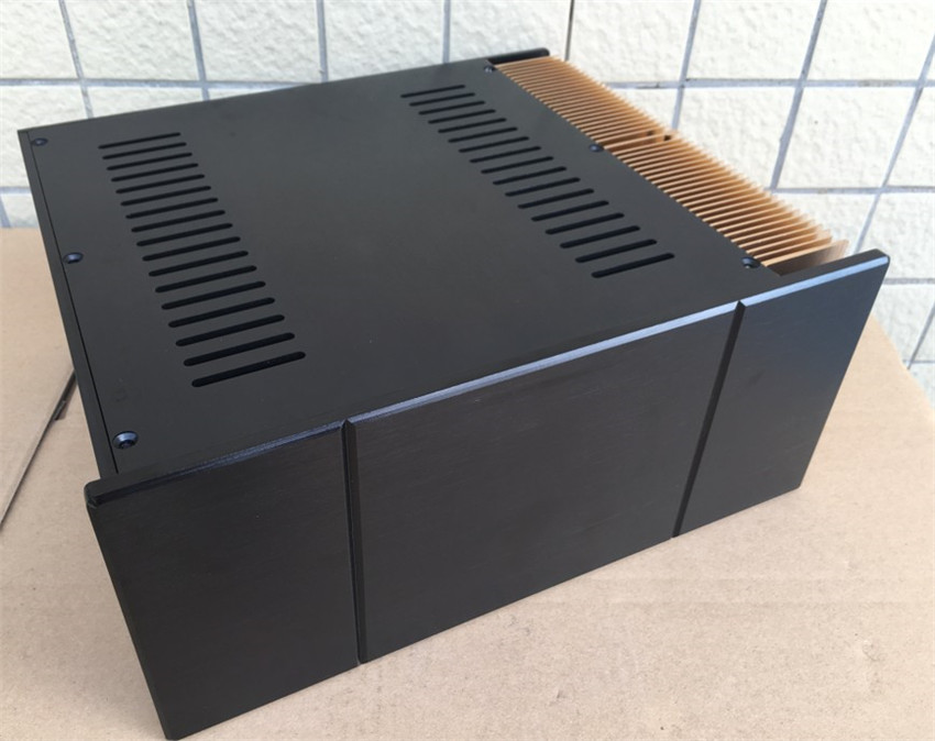 D-078 QUEENWAY Z004 Single side CNC full aluminum chassis DIY Audio box / power amplifier case 320mm*140mm*268mm 320*140*268mm queenway 2210 new l panel cnc full aluminum chassis audio box power amplifier case 362mm 220mm 100mm 362 220 100mm