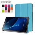 CTRINEWS PU Кожаный Чехол для Samsung Galaxy Tab A 10.1 2016 T580 Stand Case для Samsung Tab A 10.1 T585 Три раза Tablet случаях