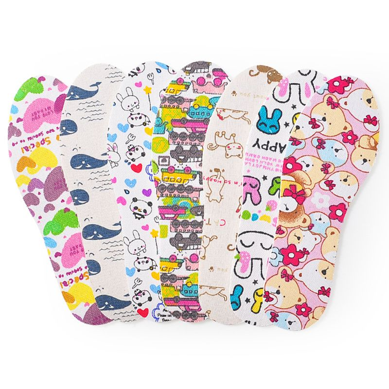 Kids Shoe Pad Cut Free Size Massage Cushion Latex EVA Ultralight Soft Pads Children Insole Cartoon Cute Protector Breathable Ins
