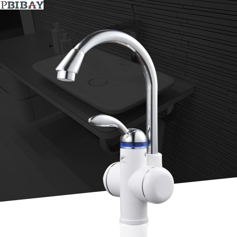 W818-1,3000W Instant Hot Water Faucet,Electric Instant Water Heater,Tap Kitchen Electric Hot Water Tap,Heating Faucet EU Plug