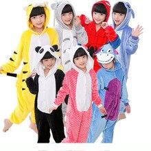 Children Unicorn Pajamas Sets Flannel Animal Winter Super Soft Nightie Pyjamas Sleepwear Homewear Kids 2019The New 4-12T