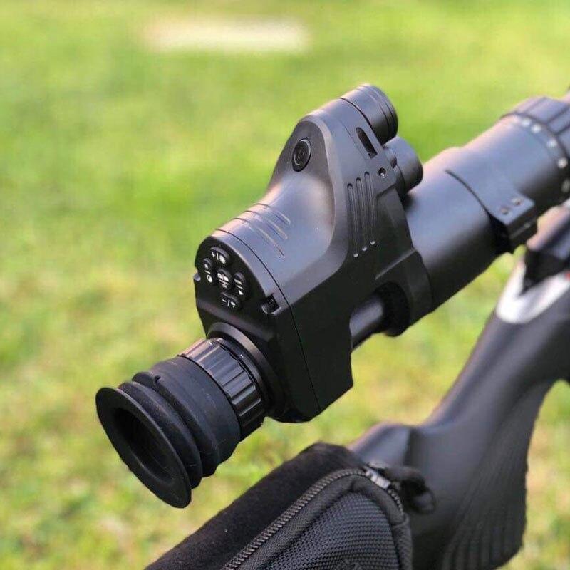 Mira telescópica Digital de visión nocturna táctica de caza para el día y la noche con función de videocámara