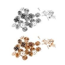 20 шт diy брошь с круглыми застежками для галстука бабочки пустые