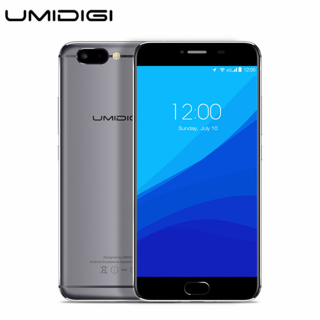 UMIDIGI Z 5.5 inch HD 4G Mobile Phone Android 6.0 MTK Helio X27 Deca Core 4GB RAM 32GB ROM Smartphone 13.0MP Fingerprint Phone